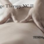 TESDA Course Massage Therapy NCII