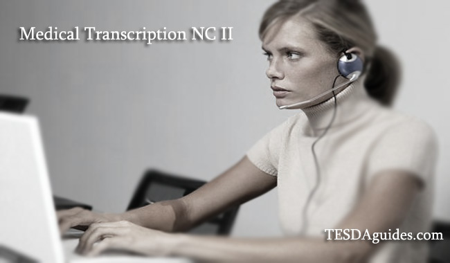 TESDA-Course-Medical-Transcription-NC-II-tesdaguides-com