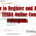 How to Register and Apply for TESDA Online Courses Program