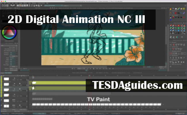 2D Digital Animation NC III TESDA courses
